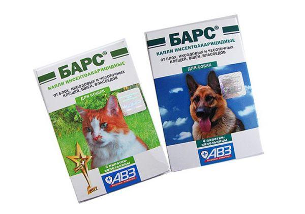 Капли Барс для животных против паразитирующих насекомых