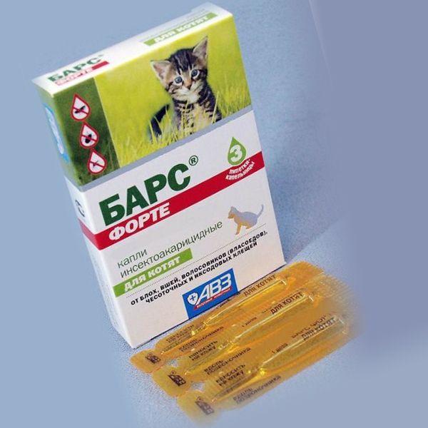 Капли Барс для котят