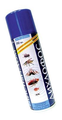 Дихлофос в борьбе с различными видами насекомых