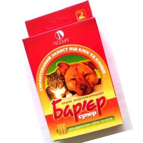 Как выглядит упаковка капель Барьер от блох