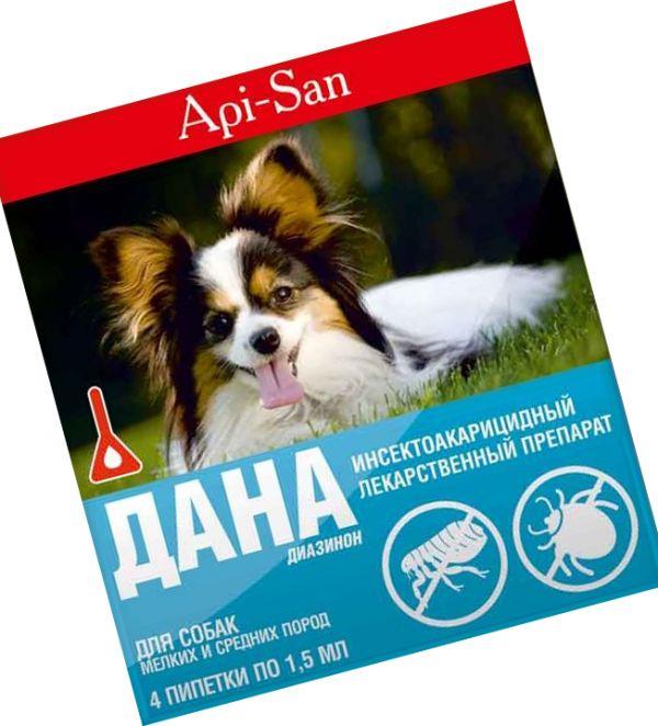 Капли Дана от блох для собак