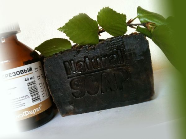 Дегтярное мыло и веточка березы