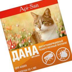 Использование капель Дана в борьбе с блохами кошек и собак